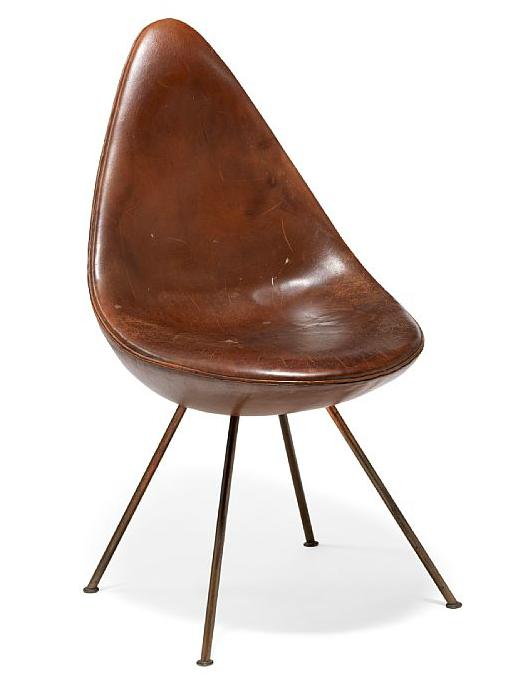 """Arne Jacobsen: """"Dråben"""" 1958. Utrop: 320.000 sek. Bruun Rasmussen."""
