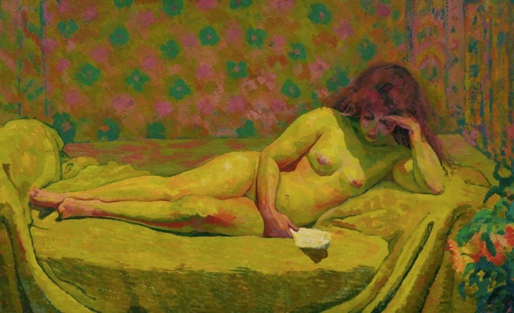 GIOVANNI GIACOMETTI (Stampa 1868 - 1933 Glion) - Théodora, huile / toile, signé et daté, 1914