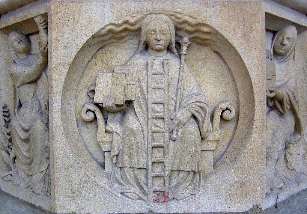 Stegen som representerar de sju stegen kallas scala philosophorum. Bild: Wikimedia Commons