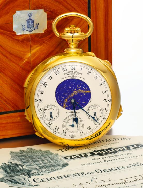 Patek Philippe, The Henry Graves JR. Supercomplication Image via Sotheby's