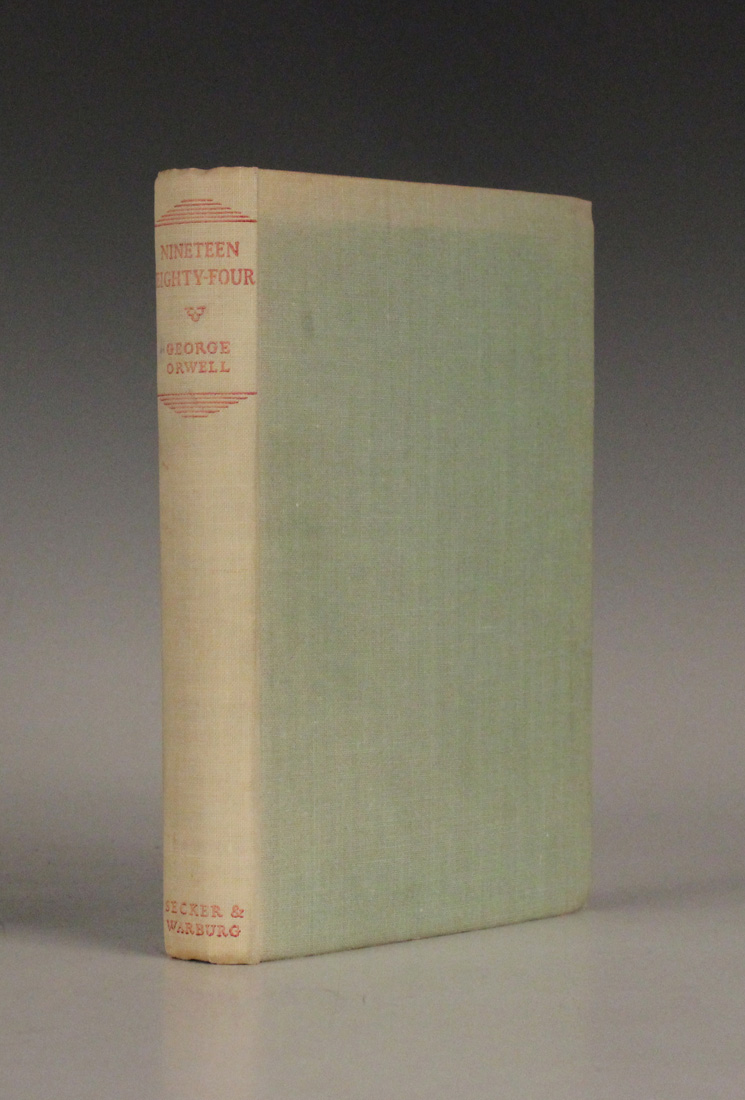 ORWELL, George. Nineteen Eighty-Four. London: Secker & Warburg, 1949. First UK edition On sale at Toovey's