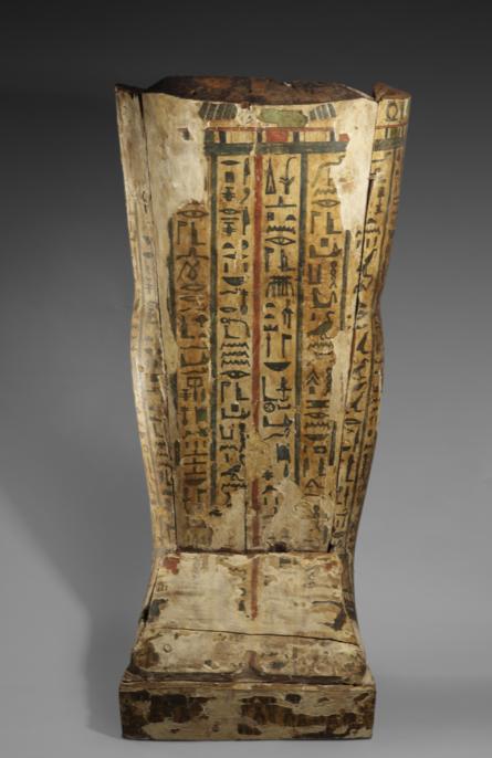Egypte Sarcophage fragmentaire en bois