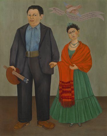 Frida Kahlo, Frieda and Diego Rivera, 1931 Image via sfmoma.org