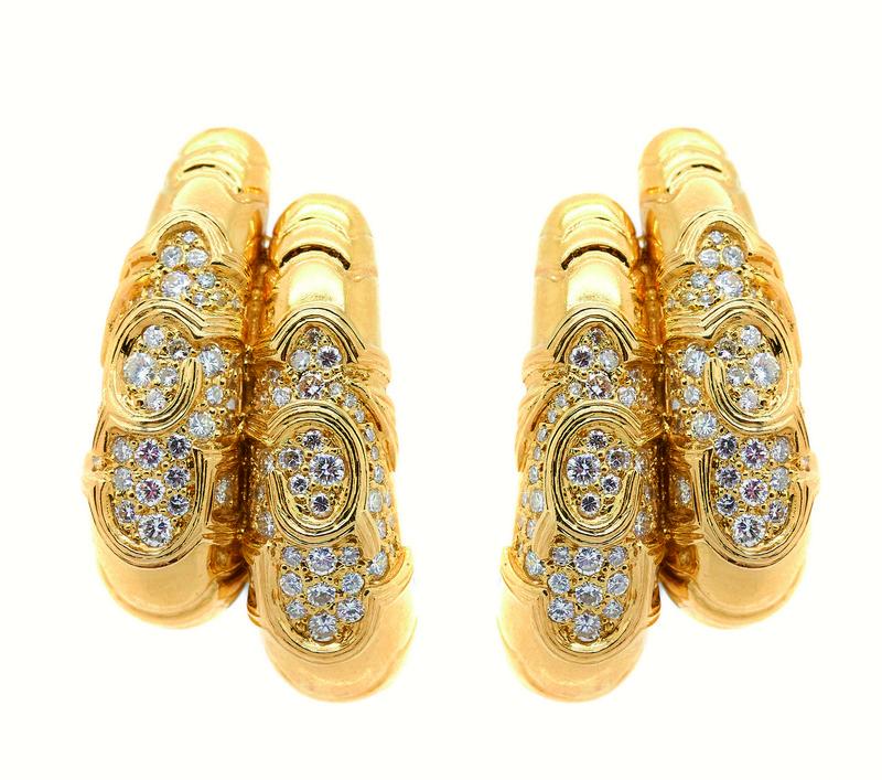 Pendientes en oro con diamantes