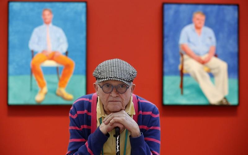 David Hockney på Los Angeles County Museum of Art år 2018. Foto: LA Times.