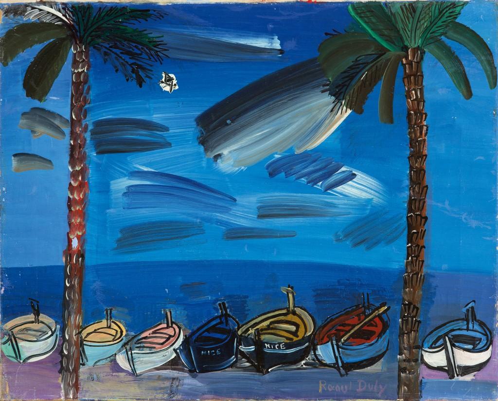 RAOUL DUFY (1877-1953) - Nice, Les Barques, Öl/Lwd., 38 x 46 cm, 1929 Schätzpreis: 70.000-90.000 EUR