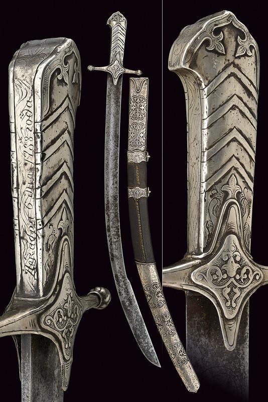 En sällsynt sabel med silverfästen. Utrop: 138 000 SEK