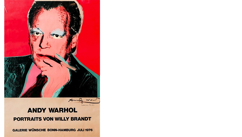 ANDY WARHOL (1928 Pittsburgh - 1987 New York) - Portraits von Willy Brandt, Farboffset, handsigniert, 1976