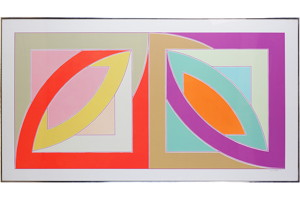 Bonne Bay, Frank Stella. 1971, lithograph and silkscreen.
