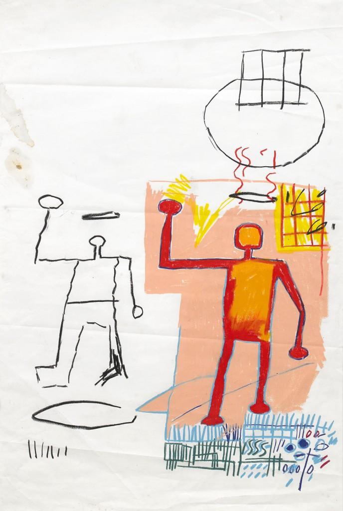 Det finns risk för att säljaren kommer ångra att hen inte vände sig till de stora auktionshusen utomlands. Kolla bara på proveniensen: Jean-Michel Basquiat, New York Tom Warren, New York Pat Hearn Gallery, New York Donald Baechler, New York Tony Shafrazi Gallery, New York Gagosian Gallery, New York Privat samling