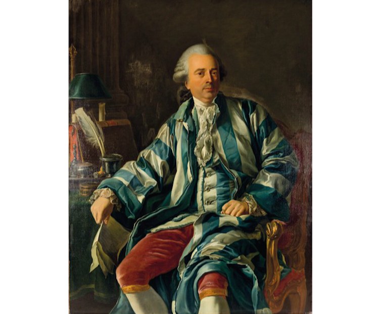 Joseph Siffrein Duplessis , olja på duk, 135x105. Lot 129. Utrop: 558.000 SEK