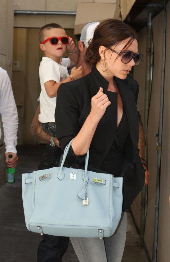 Victoria Beckham med en Hermès Birkin.