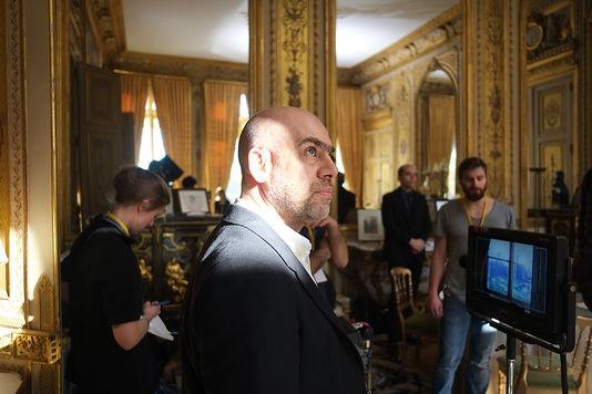 """Laurent Grasso sur le tournage d'""""Élysée"""" Image: Laurent Grassot Studio"""