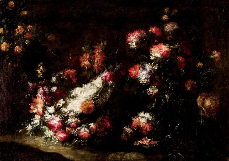 """Margherita Caffi, """"Bodegón de flores"""". Foto: Duran Arte y Subastas."""