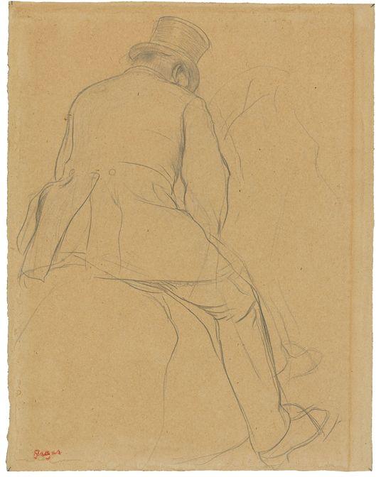 EDGAR DEGAS (1834 Paris 1917) - Cavalier, Bleistift/Papier, Signaturstempel, 1866/73