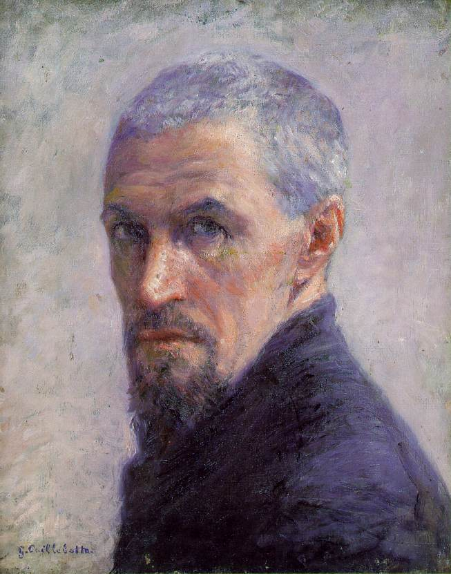 古斯塔夫·卡耶博特(Gustave Caillebotte) 藝術家的肖像。1892年,巴黎奧賽博物館