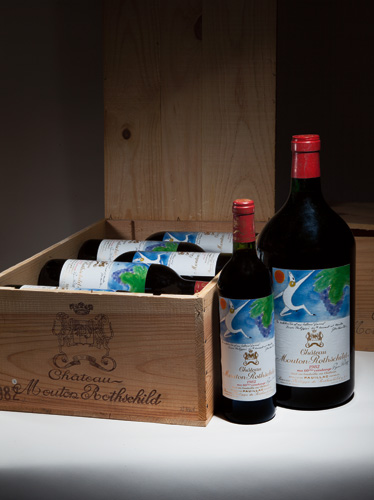 Château Mouton Rothschild, 1982 12 bottles Sold for £8 813 per lot Château Mouton Rothschild, 1982 1 double magnum Sold for £4230 per lot