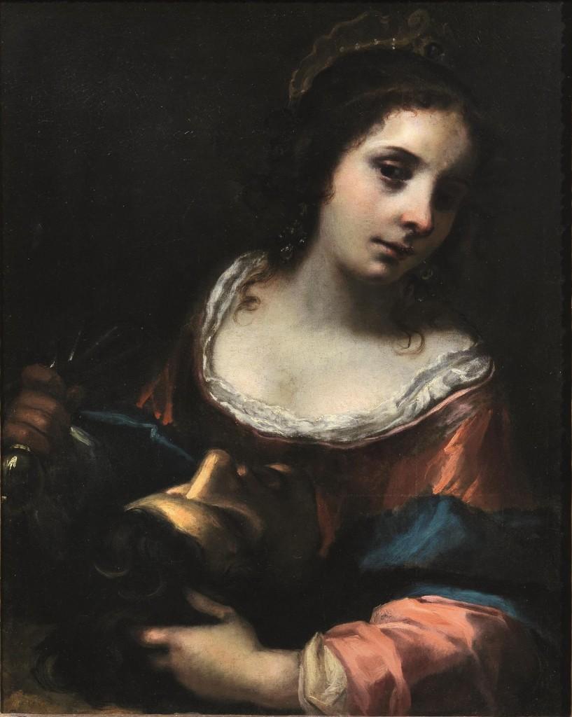 SIMONE PIGNONI (Florenz 1611-1698) attr. - Giuditta con la testa di Oloferne, Öl/Lwd., 83,8 x 59 cm Schätzpreis: 10.000-15.000 EUR