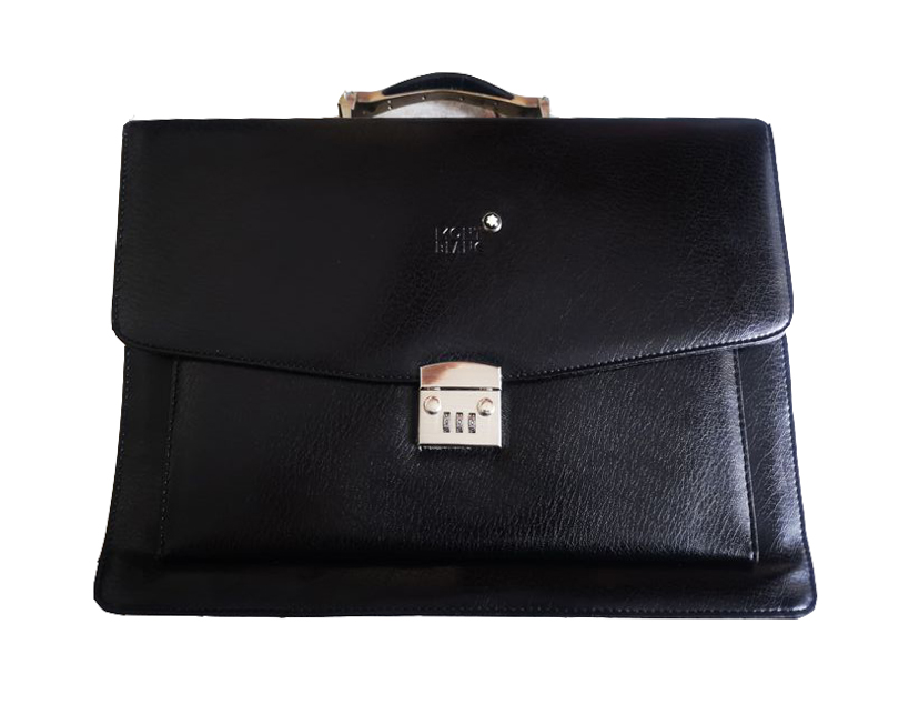 Porte-documents Montblanc en cuir noir, image Catawiki 6490dc4a09c