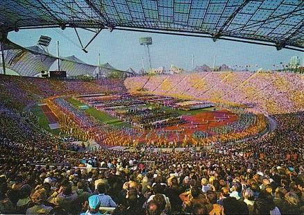 Stade de Munich pendant les Jeux Olympiques