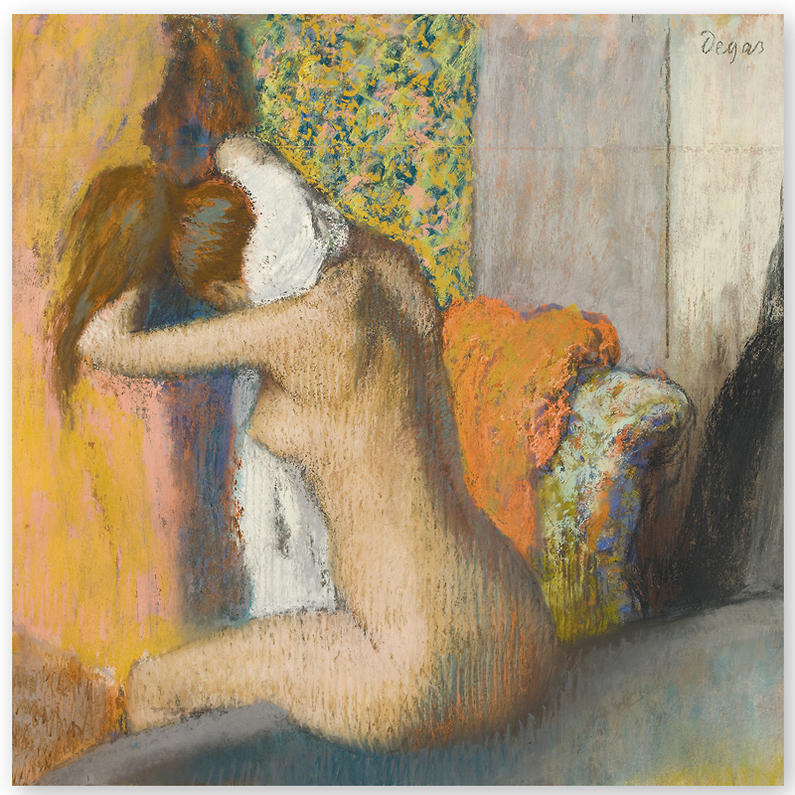 Edgar Degas (1834-1917) Après le bain, femme nue s'essuyant la nuque, 1898 Pastel sur carton © RMN-Grand Palais (Musée d'Orsay) / Hervé Lewandowski