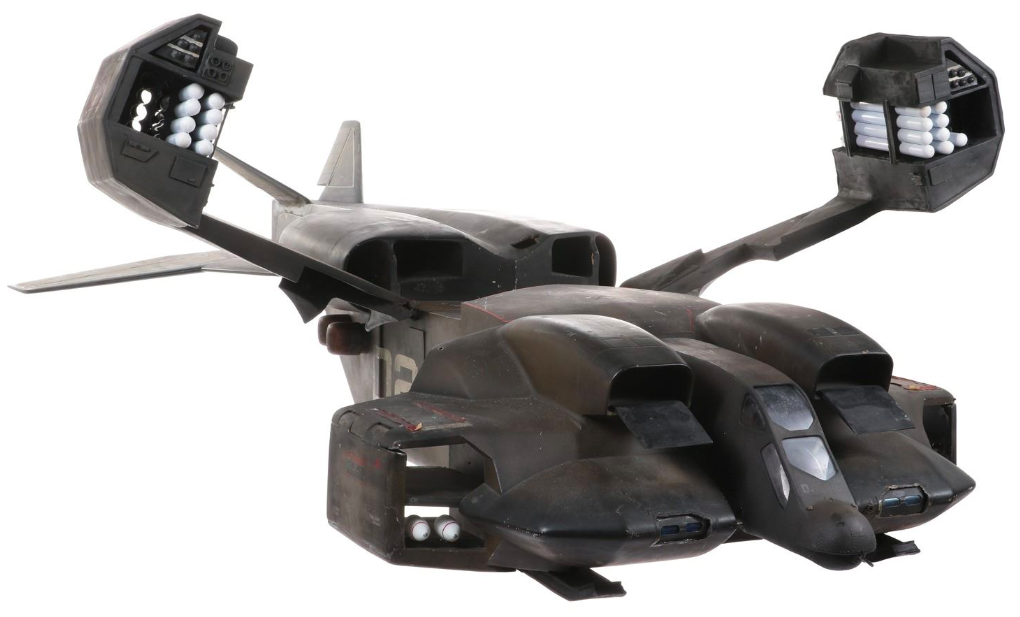 """Screen-used Colonial Marines """"Drop-ship"""" filming miniature from Aliens"""