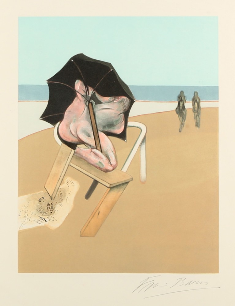 Francis Bacon, Metropolitan Triptych (Left Panel), 1981. Foto: Chiswick Auctions.