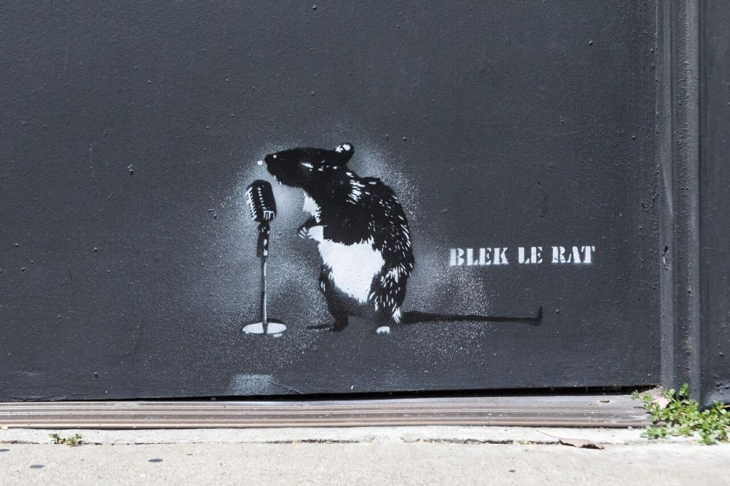 Ein weiterer Pionier der Schablonentechnik ist der französische Street Artist Blech le Rat | Foto: Pinterest