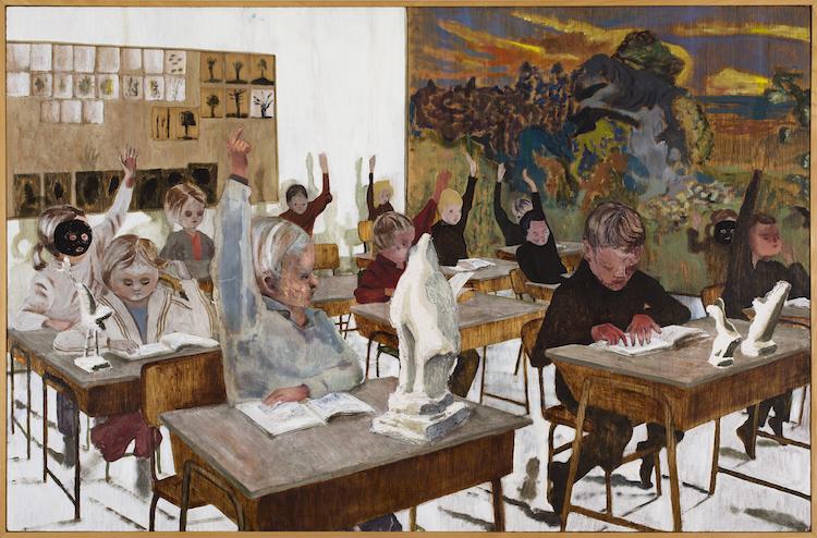 """Karin Mamma Anderssons """"Klassrum"""" från år 2000, tillika det första galleriköpet av makarna Ahlstrand."""