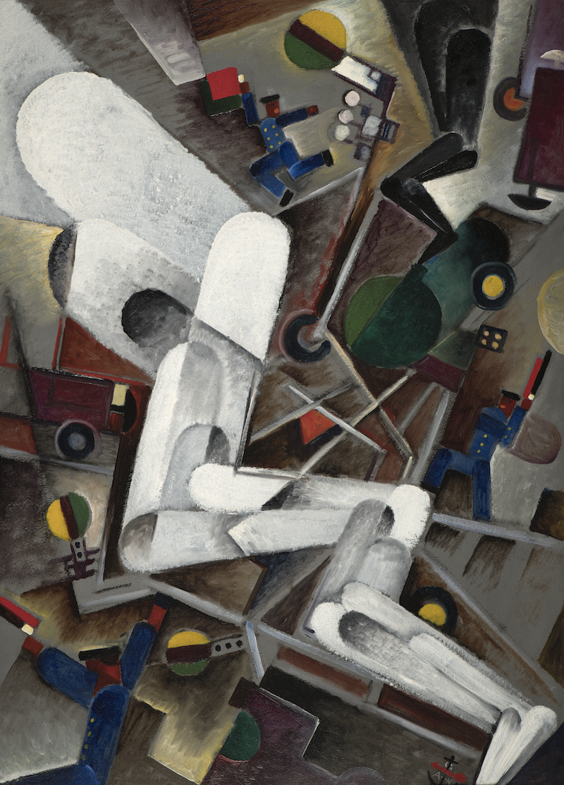 """En av Sveriges högs betalda konstnärer, tillika en av de mest spännande konstnärer är utan tvekan Gösta GAN Adrian-Nilsson. Hos Åmells säljs """"Vagnväxling II"""" från 1919."""