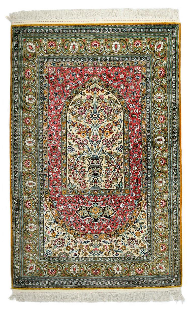 Silkes matta, handknuten. Utrop: 4.400 SEK O'Gallerie