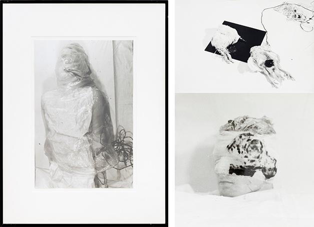 RUDOLF SCHWARZKOGLER (1940 Wien 1969) - Drei Fotos aus der 4. und 6. Aktion, Silbergelatineabzug, Wien 1965/66