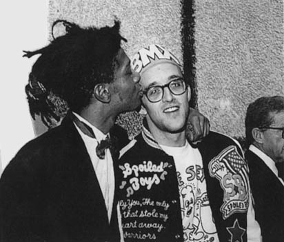 Basquiat and Haring at Club 57 Image via the Estate of Keith Haring