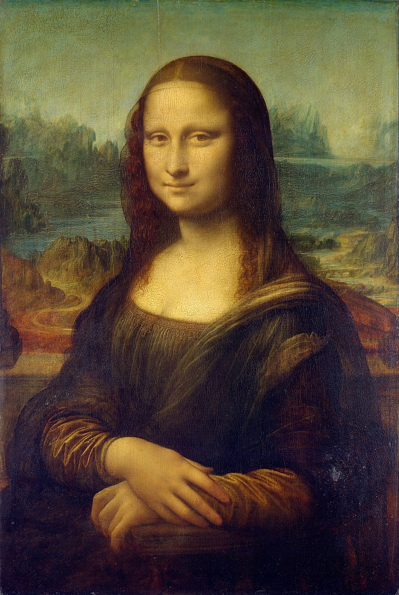 Mona Lisa av Leonardo da vinci. Bild: Louvren