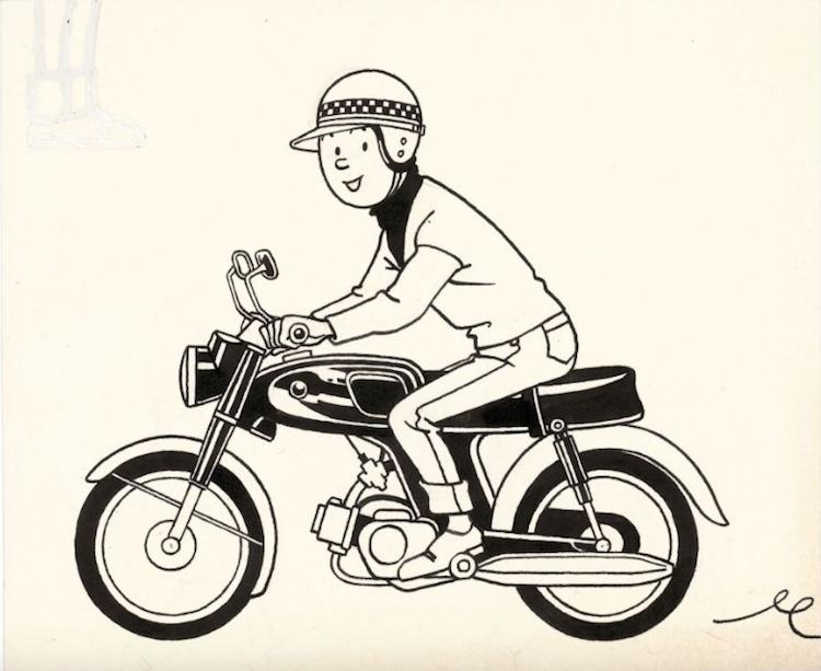 Studios Hergé Tintin a Moto Utrop: 9 300 SEK Artcurial