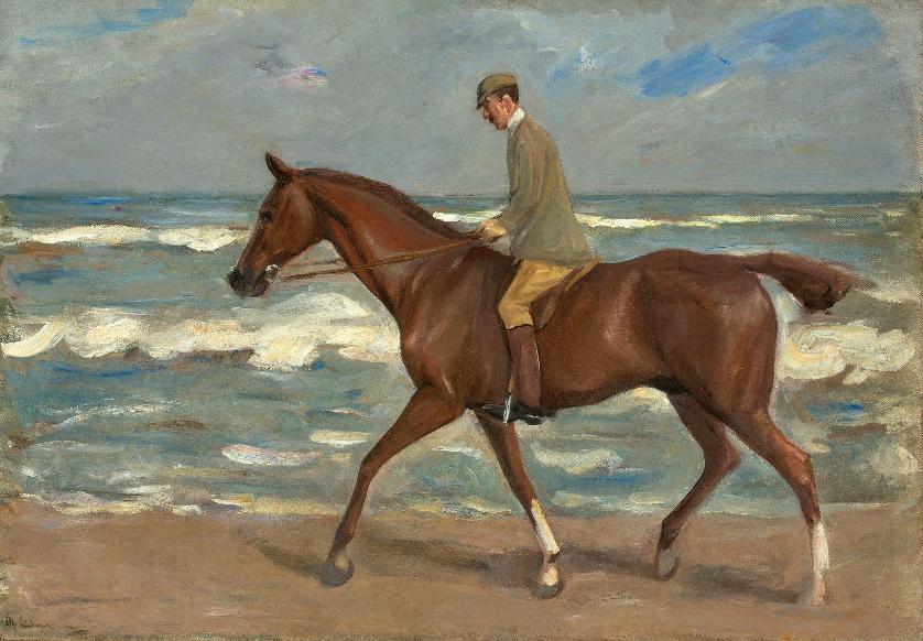 """Max Liebermann, """"Cavalier sur la plage à gauche"""", 1900 En vente le 30 novembre chez Grisebach Estimation: EUR 250.000"""