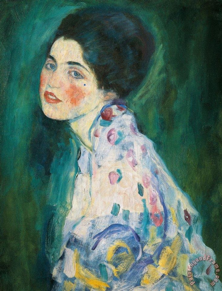 Portrait of a Lady, Gustav Klimt. 1916-17, oil on canvas.