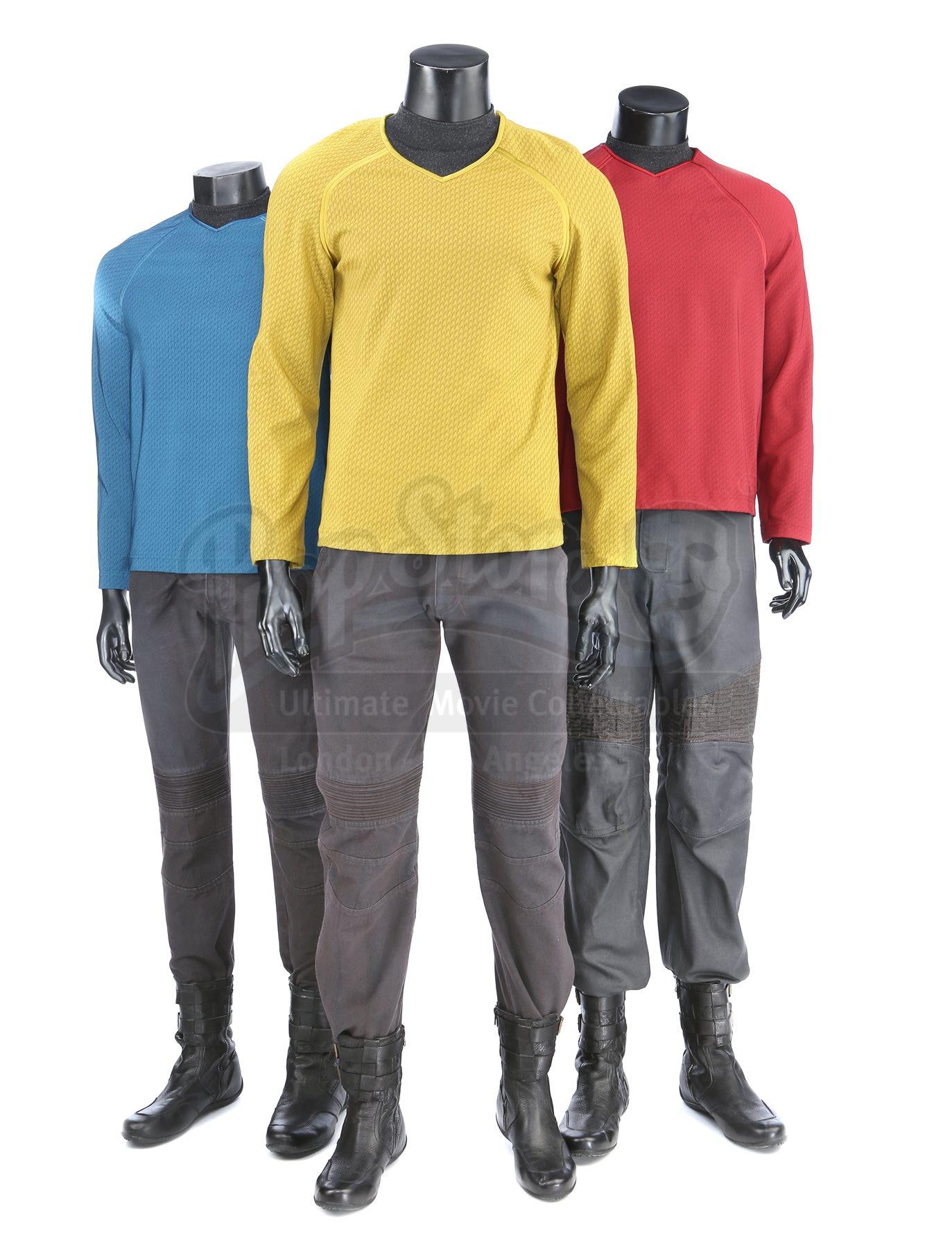 Star Trek Into Darkness Red Shirt Cos Star Fleet Command Team Tunic Uniforms New