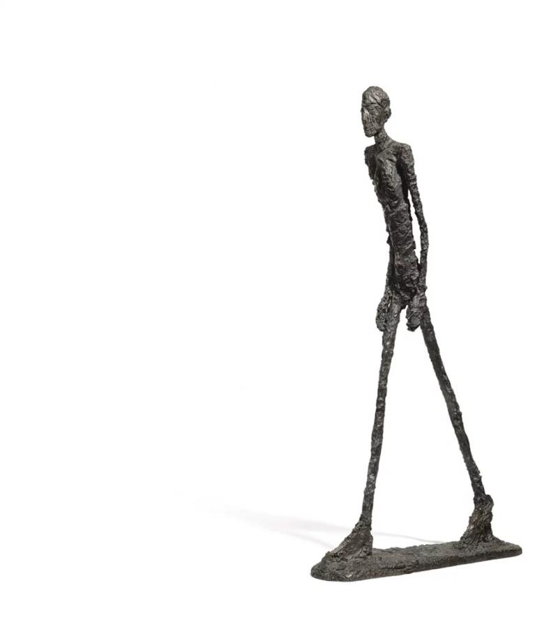 """Alberto Giacometti """"L'Homme qui marche I"""" (1960)   Foto: Sotheby's"""