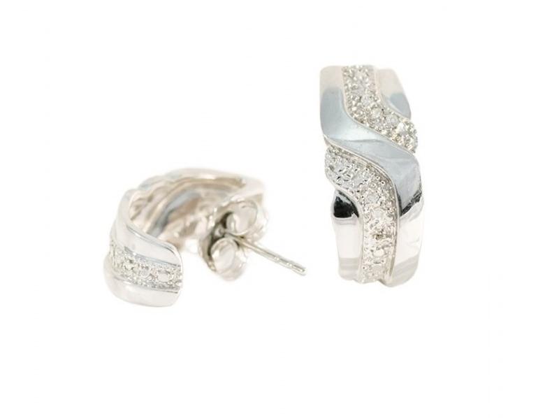 Medias Criollas en oro blanco con diamantes