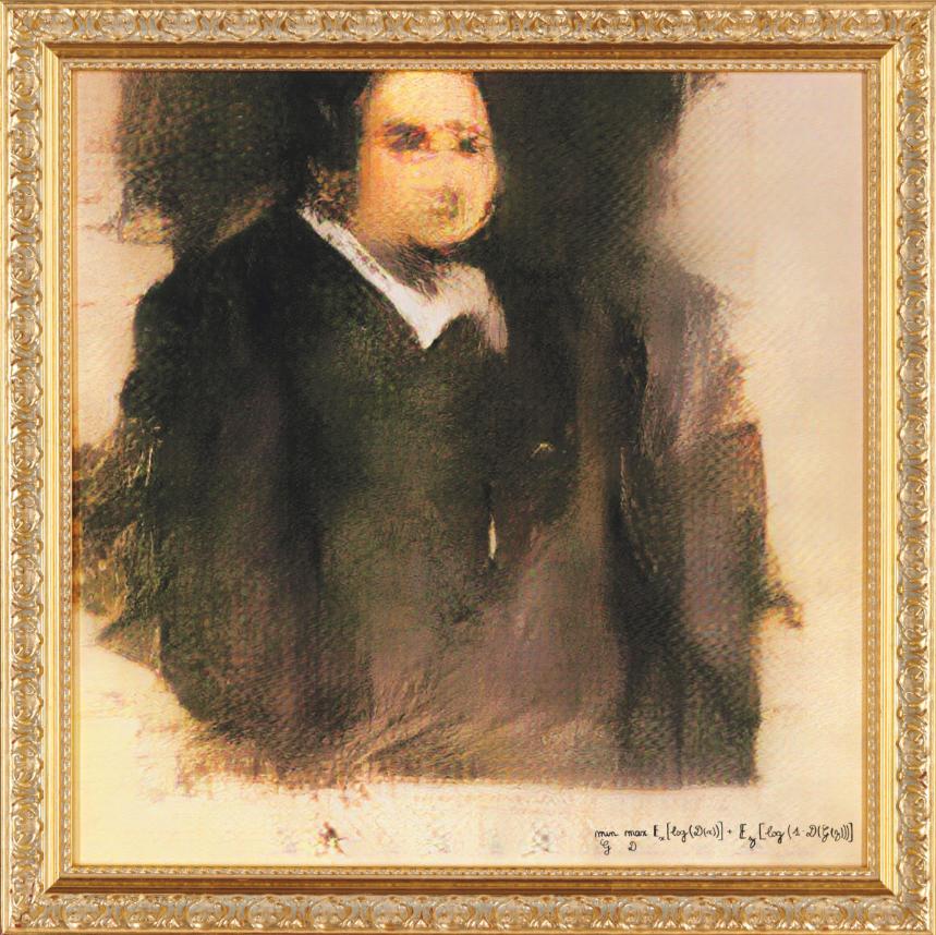 Portrait d'Edmond de Belamy, image ©Obvious