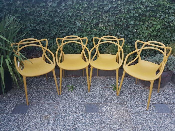 """PHILIPPE STARCK. Quattro sedie """"Masters"""" per Kartell."""
