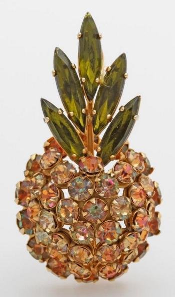 Schreiner Broche ananas vintage Eppli