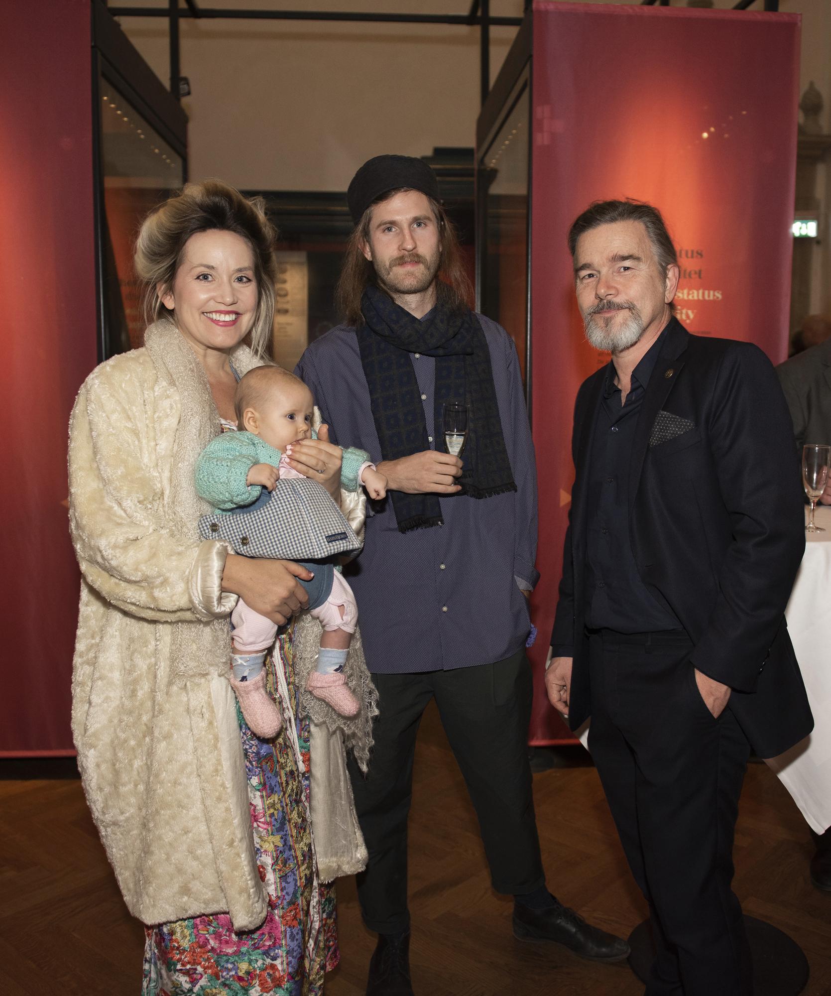 Sofia Hedman-Martynova och Serge Martynov från Musea med bebis Coco samt  Hans Lindestrand, Nordiska museet