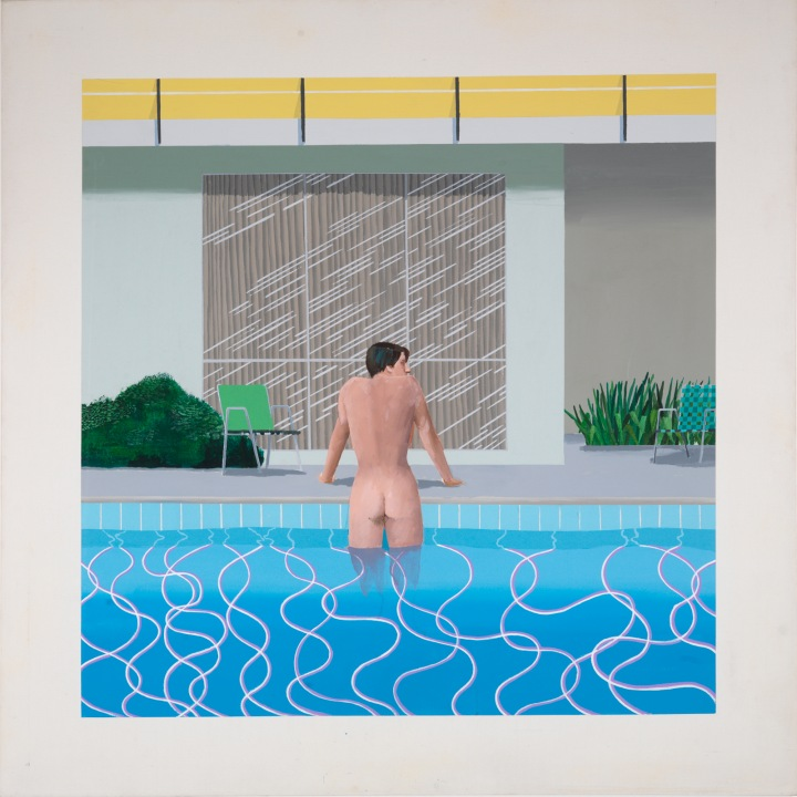 David Hockney, Peter getting out of Nick's pool, 1966 Collection Walker Art Gallery, Liverpool © David Hockney Photo Credit: Richard Schmidt