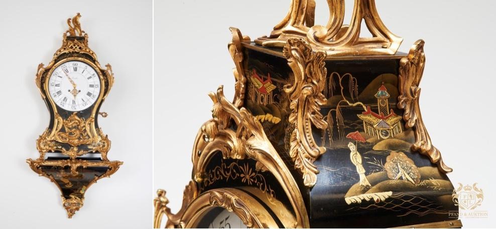 ZENITH - Louis XIX, pendel klocka, väggklocka med konsol