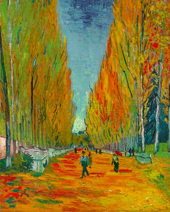 L'allée des Alyscamps, Van Gogh Image via Sotheby's