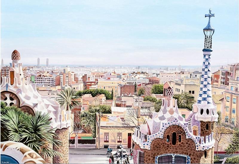 "FERNANDO COBO. ""Barcelona desde Parc Güell"" (2016)"