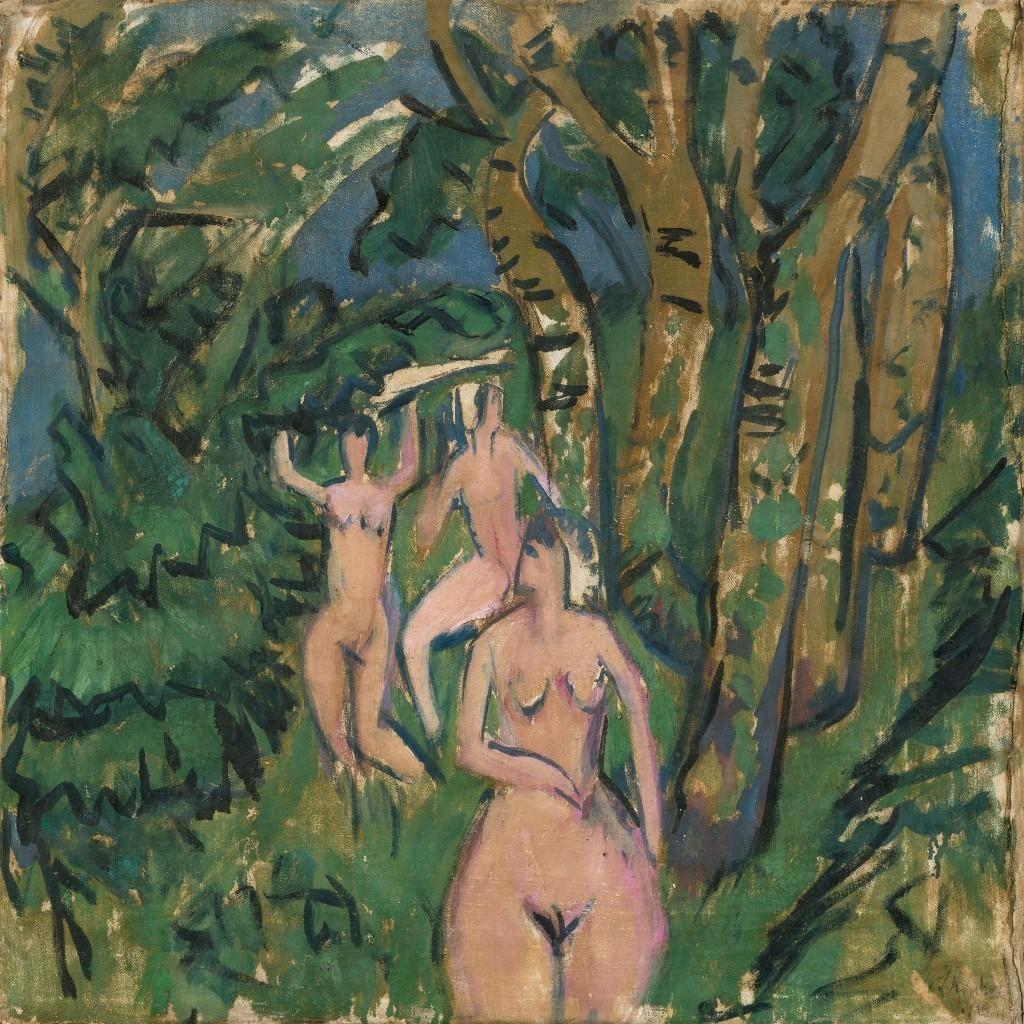 Ernst Ludwig Kirchner, « File dans la fôret », 1912, image ©Grisebach