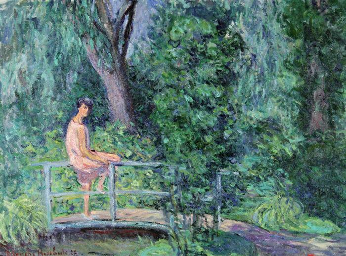 Blanche Hoschedé-Monet malte ihre Nichte Nitia im berühmten Garten von Giverny